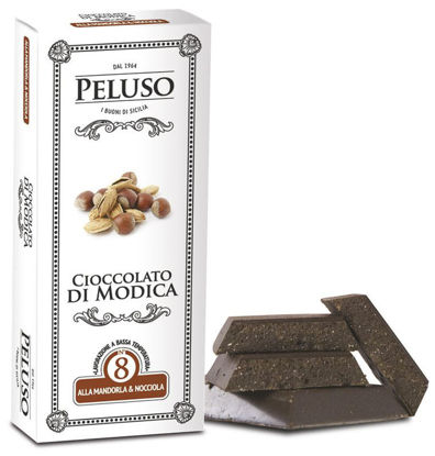 Picture of Chocolate of Modica PGI with Almonds and Hazelnuts 75g