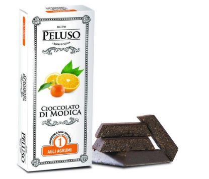 Picture of PGI Modica Chocolate with Citrus Fruit 75g.